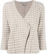 Armani Collezioni fitted wrap jacket