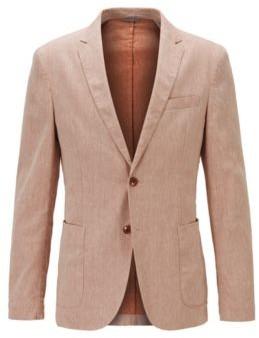 HUGO BOSS Slim-fit jacket in a stretch-linen blend