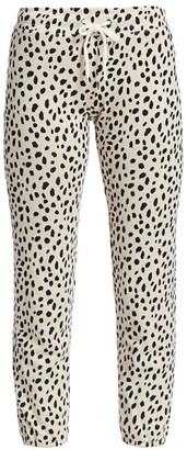 Monrow Cheetah-Print Sweatpants
