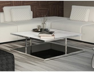 Modloft Ann Frame Coffee Table Color: White Marble