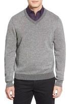 Nordstrom Men's Plaited Cashmere V-Neck Sweater