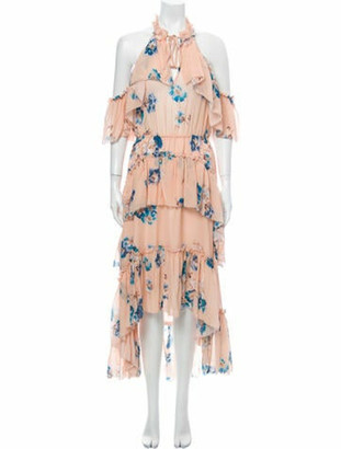 Ulla Johnson Silk Midi Length Dress Pink