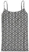 Aeropostale Womens Monochrome Print Basic Cami Ivory