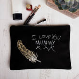lukedrewthis Personalised Make Up Bag With Child's Message