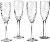Pols Potten Clear Cuttings Champagne Glass - Set of 4