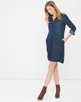 White House Black Market Denim Shirt Dress