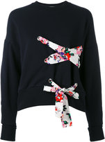 MSGM lace detail sweatshirt - women - Cotton - S