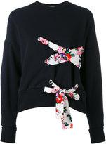 MSGM lace detail sweatshirt