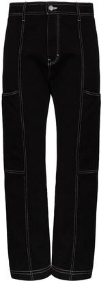 Simon Miller contrast-stitch cargo jeans
