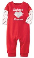 """Carter's âFuture Heartbreaker"""" Size 3M Coverall in Red"""