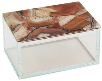 Sagebrook Home Rust Agate Top Glass Box 12082-04