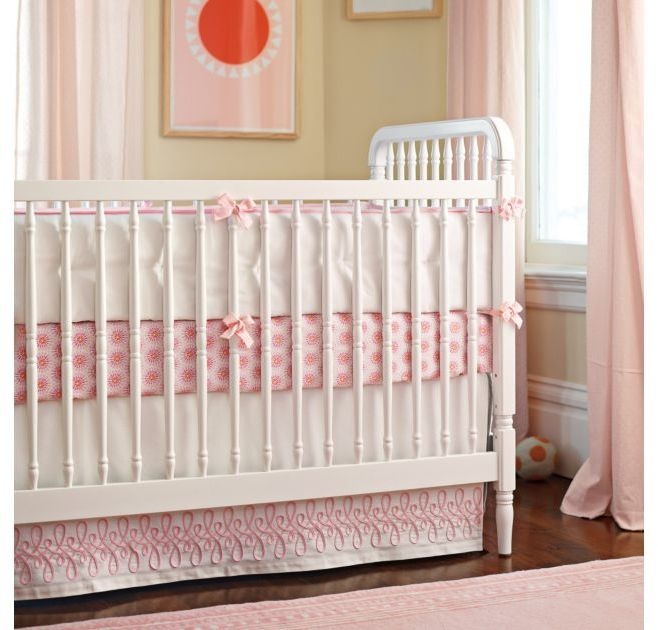 Swirl Applique Crib Skirt