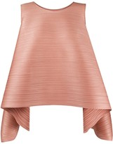 Pleats Please Issey Miyake micro-pleated structured tank top