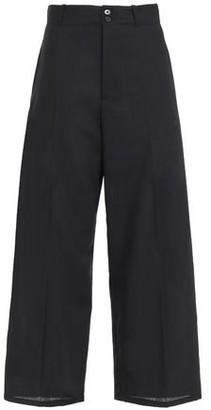 McQ Cropped Wool-twill Wide-leg Pants
