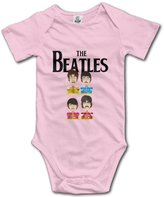 Kra8er Kids Beatles Band Logo Baby Bodysuits Rompers Unisex Boys Girls 100% Cotton