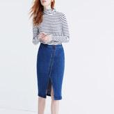 Madewell Asymmetrical Jean Skirt