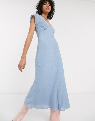 Emory Park maxi tea dress in fine stripe