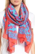 Kate Spade Women's Tangier Floral Cotton & Silk Oblong Scarf