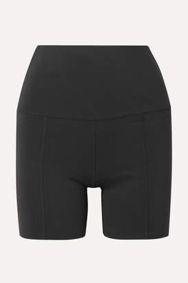 Live The Process Geometric Stretch-supplex Shorts - Black