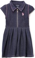 U.S. Polo Assn. Denim Pleated Shirt Dress - Infant & Girls