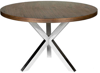 One Kings Lane Charlotte Round Dining Table - Walnut