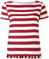 RED Valentino striped top - women - Silk/Cotton - 40