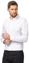 J By Jasper Conran Big And Tall White Ditsy Floral Print Shirt