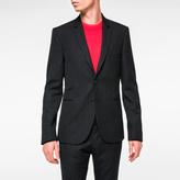 Paul Smith Men's Slim-Fit Black Textured-Check Wool-Blend Blazer