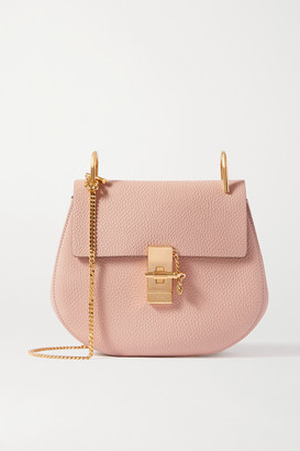 Chloé Drew Textured-leather Shoulder Bag - Mushroom