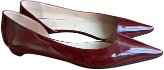 Christian Louboutin Red Patent leather Ballet flats