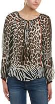 Hale Bob Leopard-Print Silk Tunic
