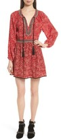 The Kooples Women's Beaded Print Silk Dress