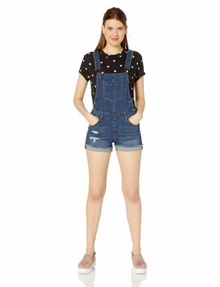 Dollhouse Women's Blue Suede Denim Shortall 11