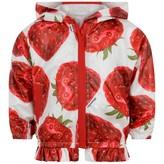 MonnaLisa MonnalisaBaby Girls White & Red Strawberry Jacket
