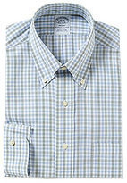 Brooks Brothers Non-Iron Regent Fit Fitted Classic-Fit Checked Button-Down Collar Dress Shirt