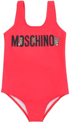 Moschino Logo Print One-piece Swimsuit