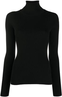 Dolce & Gabbana Virgin Wool Roll Neck Fitted Jumper