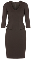 Emporio Armani Peplum Waist Dress