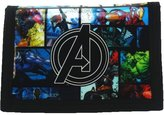 Marvel Avengers Assemble Cartoon A Logo Comic Style TriFold Hook & Loop Wallet