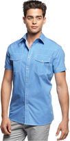 Kenneth Cole Reaction Shirt, Short Sleeve Western Shirt