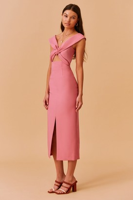 Finders Keepers MAE MIDI DRESS pink