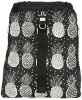 Dolce & Gabbana pineapple print drawstring backpack