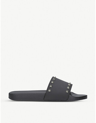 Valentino Rockstud rubber pool slider sandals