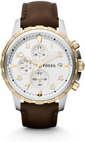 Fossil Dean Chronograph Brown Leather Watch