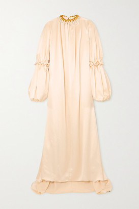 Roksanda Abel Gathered Hammered Silk-satin Gown - Ivory