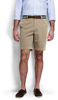 """Lands' End Men's Traditional Fit 9"""" Plain Front Casual Chino Shorts-Washed Vintage Indigo"""