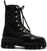 Altuzarra Leather Cosmo Ankle Combat Boots in Black.