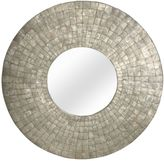 Jeffan Cameron 35-Inch Round Mirror in Silver