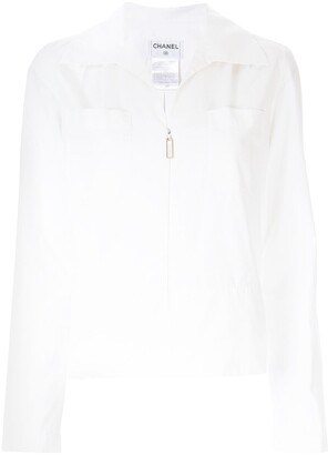 Chanel Pre Owned Zip-Front Shirt