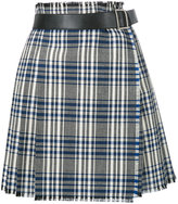 Alexander McQueen checked wrap skirt - women - Calf Leather/Cupro/Virgin Wool - 40